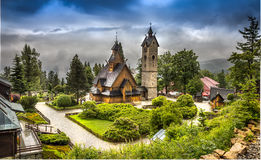 Wang Church in Poland in Karpacz Stock Images