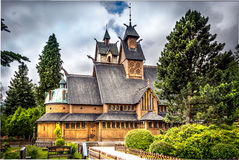 Wang Church in Polen in Karpacz Stock Fotografie