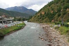 Wang Chuu - Thimphu - Bhutan Stockfoto