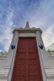 Wang doors. Palace gate Wat Phra Kaew in Bangkok, Thailand Royalty Free Stock Image