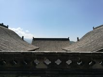 Wang Family Courtyard Rooftops Photographie stock
