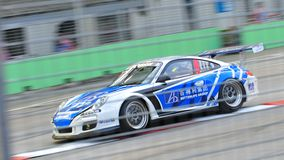 Wang Jian Wei racing at Porsche Carrera Cup Asia Stock Photos