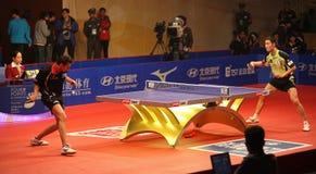 Wang Liqin (CHN) - Vladimir Samsonov (BLR) Royalty Free Stock Images