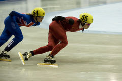 Wang Meng. SOFIA, BULGARIA - MARCH 21: A new World Champion in the event of 1000 m women became Wang Meng of China. ISU World Short Track Championships on March Royalty Free Stock Photo