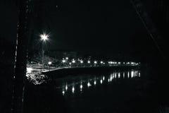 Wang River. The Wang River at night from Riverside Guesthouse in Lampang, Thailand Royalty Free Stock Photography