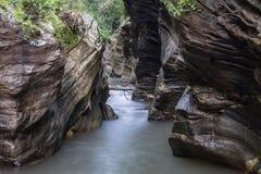 Wang Sila Laeng, гранд-каньон в районе Pua Стоковые Изображения RF