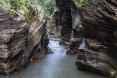 Wang Sila Laeng, Grand Canyon dans le secteur de Pua Images libres de droits