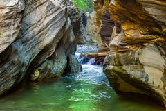 Wang Sila Lang Grand Canyon, Pua District, Nan en Thaïlande images libres de droits