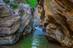 Wang Sila Lang Grand Canyon, Pua District, Nan en Thaïlande image libre de droits