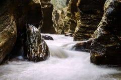 Wang Silalaeng eller Grand Canyon av det Pua området i det Nan landskapet Royaltyfri Fotografi