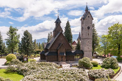 The Wang Temple in Karpacz. Old, wooden, Norwegian temple Wang in Karpacz, Poland Stock Images
