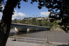 Wanganui City Bridge. With Durie Hill in the background Royalty Free Stock Photos
