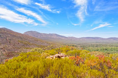 Wangara Lookout hike - Wilpena Pound Stock Images
