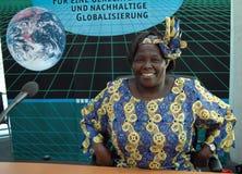 Wangari Maathai photographie stock libre de droits