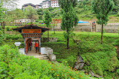 Wangdue Phodrang, Trongsa, Bhutan - September 12, 2016: Passage. Near Dang Chhu river valley between Wangdue Phodrang and Nobtling, Bhutan Royalty Free Stock Photo