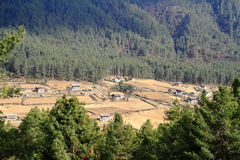 Wangdue Phodrang Valley, Bhutan Royalty Free Stock Photo