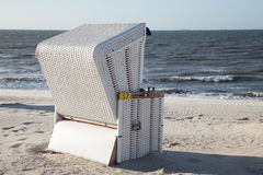 Wangerooge, beach and beach chair Royalty Free Stock Photo
