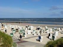 Wangerooge strand, Tyskland Arkivfoto