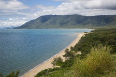 Wangetti Beach Captain Cook Highway. View of Wangetti Beach from Rex Lookout, Captain Cook Highway, Cairns Port Douglas royalty free stock image
