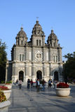 Wangfujing Church. In Beijing, Chinarn is a Roman architectural style of the church, Chinese and western architectural style is communion model.Although live Royalty Free Stock Image