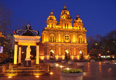 Wangfujing church , Beijing,Night scenes Stock Photo