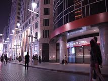 Wangfujing commercial street at night stock footage