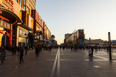 Wangfujing evening Stock Photos