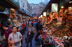 Wangfujing night market Stock Photo