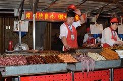 Wangfujing Snack Street in Beijing Royalty Free Stock Image