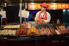 Wangfujing Snack Street in Beijing Stock Image