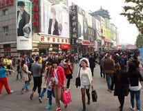 Wangfujing Street in Beijing, China Stock Image