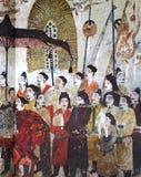 Wangjiafeng Chinese procession fresco in the tomb of Xu Xianju, China Stock Image
