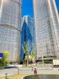 Wangjing, beijing, China, construção muito alta, foto de stock royalty free