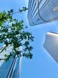Wangjing, Peking, China, de hoge bouw, stock afbeelding