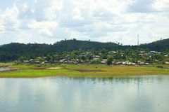 Wangka, villaggio di minoranza di lunedì Fotografia Stock Libera da Diritti