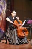 Wangmiao play cello Royalty Free Stock Image