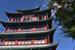 Wangu lou tower on the top of Lion hill, Lijiang Stock Images