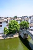 Wangyue Bridge (Moon Bridge). This photo was taken in Sanhe Ancient Town ,Anhui province, china Stock Image