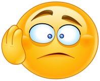 Wanhoop emoticon stock illustratie