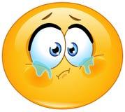 Wanhopige emoticon stock illustratie