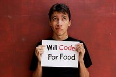 Wanhopige Programmeur Stock Fotografie