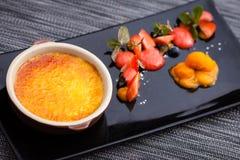 wanilia karmelizująca kremowego creme deserowego francuza cukieru odgórna tradycyjna wanilia Obraz Royalty Free
