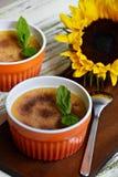 wanilia karmelizująca kremowego creme deserowego francuza cukieru odgórna tradycyjna wanilia Zdjęcie Royalty Free
