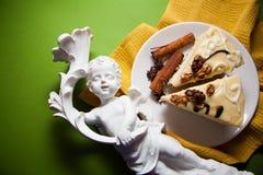 Wanilia tort zdjęcie stock