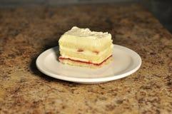 Wanilii i truskawki tort Zdjęcie Royalty Free
