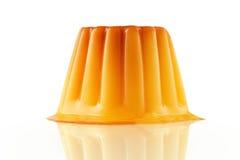 Waniliowy kremowy karmelu deser głębokość pola płytki Zdjęcia Royalty Free