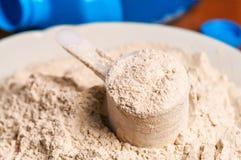 Waniliowy proteina proszek zdjęcie royalty free
