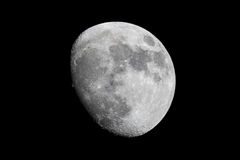 Waning Gibbous Moon. High quality picture of the Moon shot through 10 inch Newtonian telescope royalty free stock photos