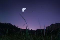 Waning moon Stock Images