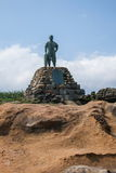 Wanli District, New Taipei City, Taiwan Yehliu Geopark bronze statue of Lin Tian Zhen Stock Photos